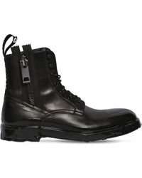 Dolce & Gabbana - Firenze Leather Lace-up Boots - Lyst