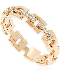 Jezebel London - Strand Gold & Diamond Ring - Lyst