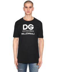 Dolce & Gabbana - Logo Millennials Printed Jersey T-shirt - Lyst