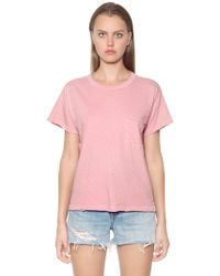 Rag & Bone - Vintage Crewneck Cotton Jersey T-shirt - Lyst