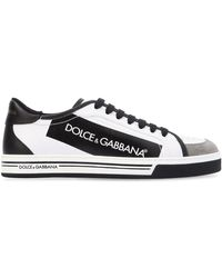 Dolce & Gabbana - Logo Tape Coated Canvas Trainers - Lyst