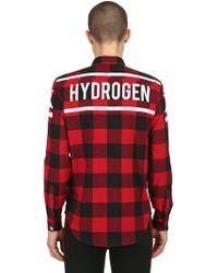 Hydrogen - Stars Cotton Flannel Shirt - Lyst