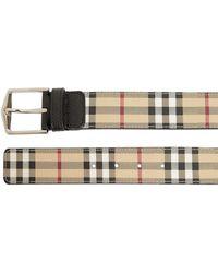 Burberry - 40mm Classic Check Belt - Lyst