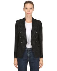 Tagliatore 0205 - Double Breasted Lurex Tweed Blazer - Lyst