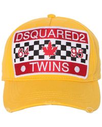DSquared² - Twins Patch Canvas Baseball Cap - Lyst