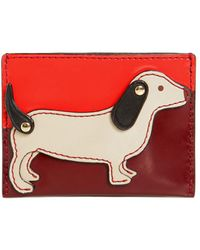 Tory Burch - Dog Slim Leather Card Holder - Lyst