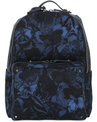 Valentino - Butterfly Printed Nylon Backpack - Lyst