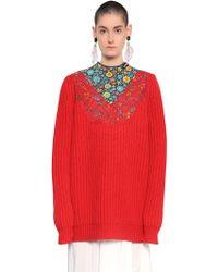 Balenciaga - Oversized Wool Rib Knit Jumper - Lyst