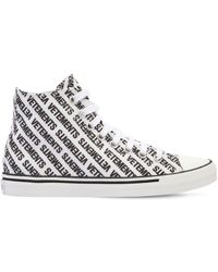 Vetements - 20mm Logo Print Canvas High Top Sneakers - Lyst
