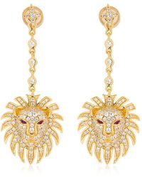 Apm Monaco - Silver Lion Statement Earrings - Lyst