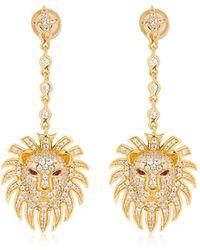 Apm Monaco - Silver Lion Statement Earrings - Lyst