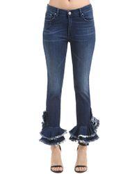 Don't Cry   Cotton Denim Jeans W/ Ruffled Hem   Lyst