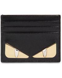 Fendi - Monster Leather Card Holder - Lyst