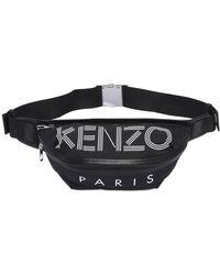 KENZO | Logo Printed Nylon Belt Pack | Lyst