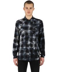 Ksubi - Mosh Indigo Check Cotton Shirt - Lyst