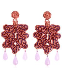 Anna E Alex - Passamaneria Rosa Lamè Earrings - Lyst