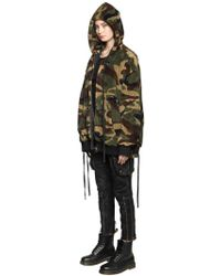 Faith Connexion - Hooded Camouflage Bomber Jacket - Lyst