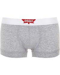 DSquared² - Logo Cotton Jersey Boxer Briefs - Lyst