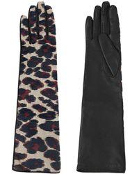Lanvin - Shiny Leopard Jacquard Gloves - Lyst