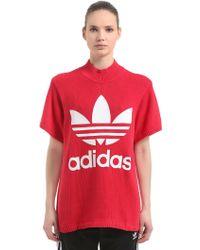 adidas Originals - T-shirt Oversize Stampa Logo - Lyst