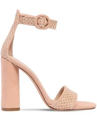 Kendall + Kylie - 110mm Giselle Glitter & Mesh Sandals - Lyst