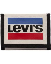 Levi's - Logo Printed Canvas Coin Wallet - Lyst