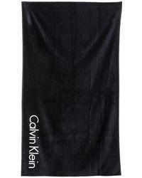 CALVIN KLEIN 205W39NYC - Logo Cotton Terrycloth Beach Towel - Lyst