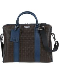 Serapian - Resin Embossed Leather Briefcase - Lyst