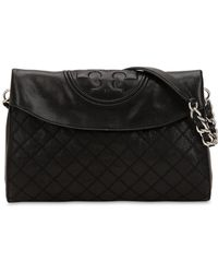 Tory Burch - New Flaming Distressed Leather Bag - Lyst