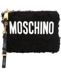 Moschino - Logo Mohair Pouch - Lyst