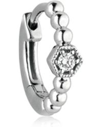 Stone Paris - Charmante Tiny Hoop Mono Earring - Lyst