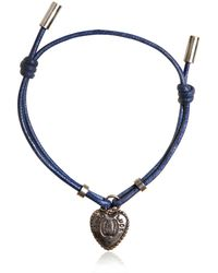 Dolce & Gabbana - Waxed Strap & Metal Chain Bracelet - Lyst