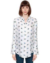 Equipment - Stars Printed Silk Shirt - Lyst
