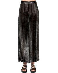 Temperley London - Sequined Stripes Wide Leg Trousers - Lyst