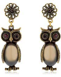 Alcozer & J - Kira & Melita Owl Pendant Earrings - Lyst