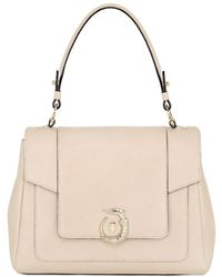Trussardi - Lovy Perforated Leather Top Handle Bag - Lyst