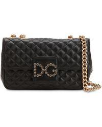 Dolce & Gabbana - Quilted Leather Shoulder Bag - Lyst