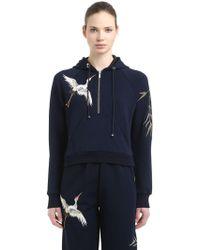 Angel Chen - Hooded Embroidered Jersey Sweatshirt - Lyst