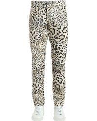 G-Star RAW - Elwood Leopard Print Denim Jeans - Lyst