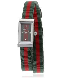 Gucci - G-frame Web Double Wrap Around Watch - Lyst