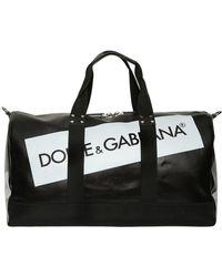 Dolce & Gabbana - Logo Tape Coated Canvas Duffle Bag - Lyst