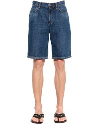 JW Anderson - Cotton Denim Shorts W/ Embroidered Logo - Lyst