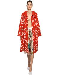 Marni - Duster Print Suede Coat - Lyst