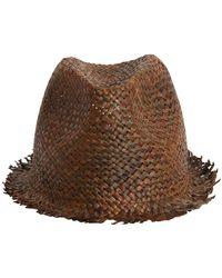 08c16b58c4a Giorgio Armani Paper Hat in Brown for Men - Lyst