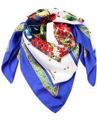 Dolce & Gabbana - Flower Vase Silk Scarf - Lyst