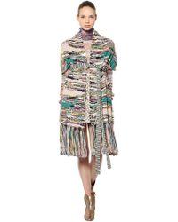 Missoni - Wool Blend Knit Shawl With Belt - Lyst