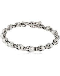 Cantini Mc Firenze | Skull Chain Silver Bracelet | Lyst