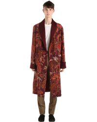 Etro - Printed Silk Robe - Lyst