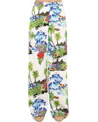 Stella Jean - Pantalones De Algodón Con Estampado De Flores - Lyst