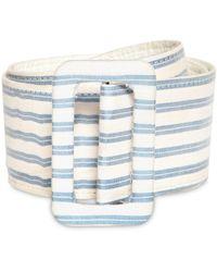 Luisa Beccaria - Striped Linen Blend Belt - Lyst